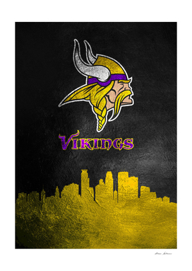 Minnesota Vikings Skyline