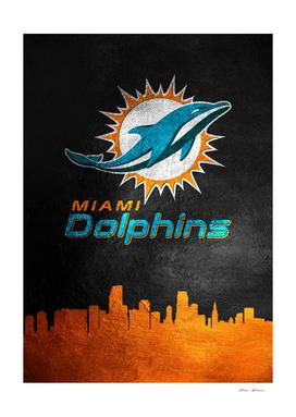 Miami Dolphins Skyline