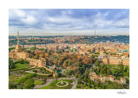 Vatican Gardens Aerial View, Rome, Italy