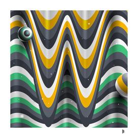 Wavy letter W