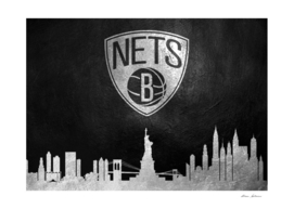 Brooklyn Nets Skyline