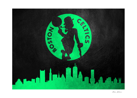 Boston Celtics Skyline