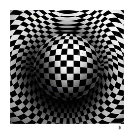 Chequered sphere
