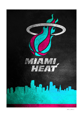 Miami Heat Vice Skyline