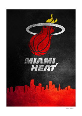Miami Heat Skyline