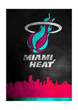 Miami Heat Vice Skyline 2