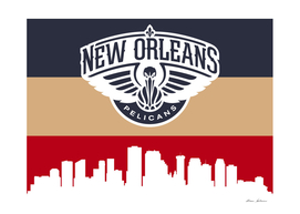 New Orleans Pelicans Skyline 4
