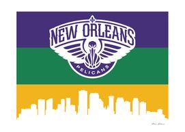 New Orleans Pelicans Skyline 3