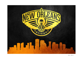 New Orleans Pelicans Skyline 2