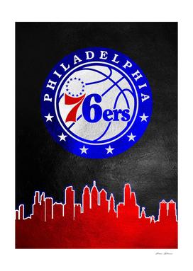 Philadelphia 76ers Skyline