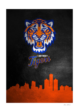 Detroit Tigers Skyline