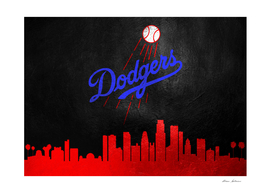 Los Angeles Dodgers Skyline