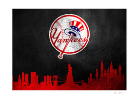 New York Yankees Skyline