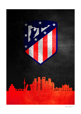 Atletico Madrid Skyline