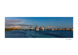 Three Cruise Ships in Nassau