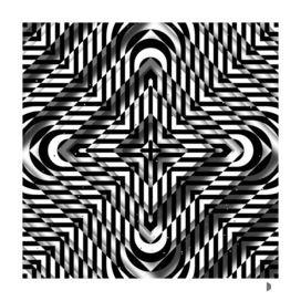 Rhombuses with cross (black-white)
