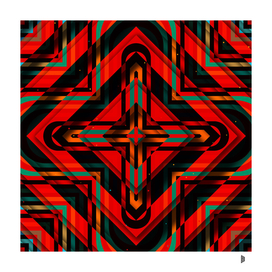 Rhombuses with cross (red-green-black)