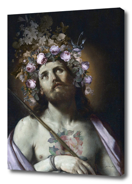 Christ with flowers