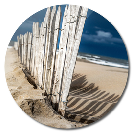 Fence on beach