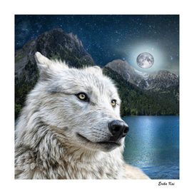 White Wolf and Moonlight
