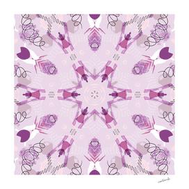 Purple Kaleidoscope Mandala