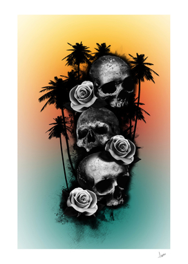 calaveras y rosas caribbe