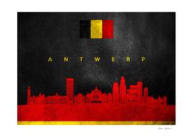 Antwerp Belgium Skyline