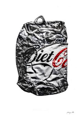 Diet Coca Can Flatten