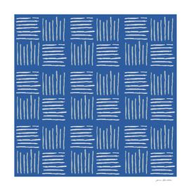 Grey textile texture on blue
