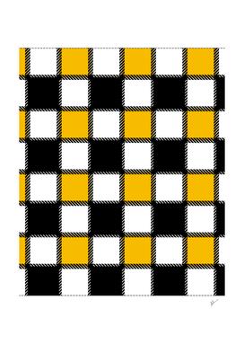 Yellow Monochrome Checks