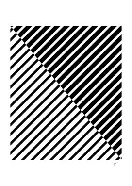 Black Crossing Stripes