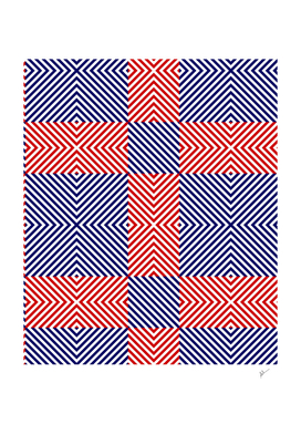 Red Blue Crossing Stripes