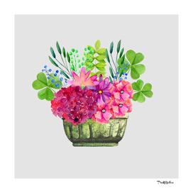 Cottage Flower Basket