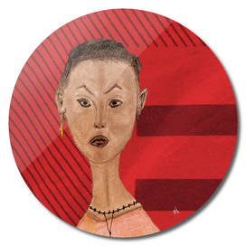 Portrait of Keiko in Red