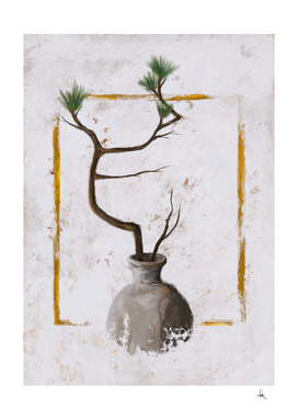 Ikebana No.1 Gold Frame