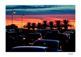 Urban Sunset Scene, Punta del Este - Uruguay