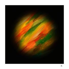 Minimal Exoplanet, Orange, Green, Red