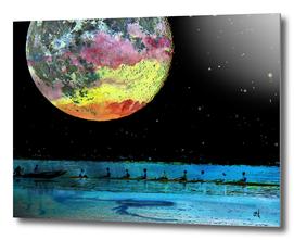 Moonlight Rowing Fantasy
