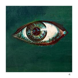 All Seeing Eye Against Green Slate