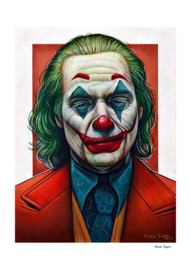 Joker Colored Pencil Drawing