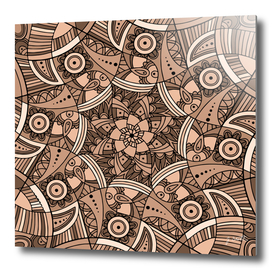 African Ornaments No1 Brown