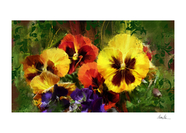 Dancing Pansies on a Windy Day
