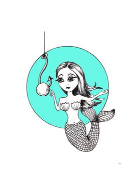 Mermaid With Pearl Bait