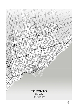 Toronto city map white