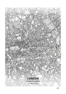London city map white