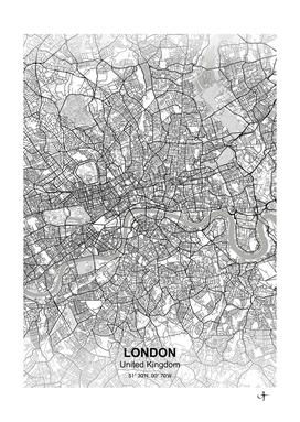 London city map white