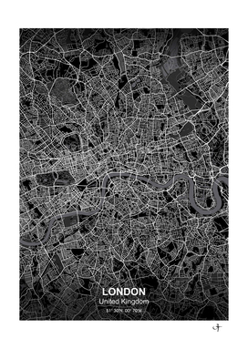 London city map black