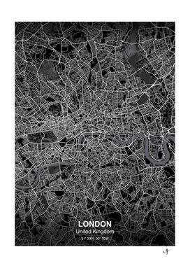 London city map black