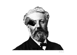 The great Jules Verne with one of his ships