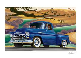 Chevrolet 3100 Pickup Under California Oak
